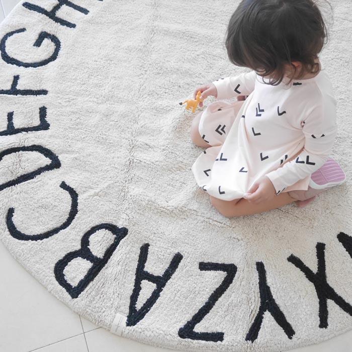 Lorena Canals 馬卡龍ABC圓毯(蒙布朗)