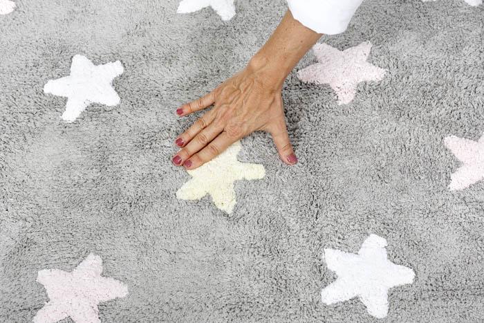 Lorena Canals 小星星合奏曲地毯-銀河三色星(粉)