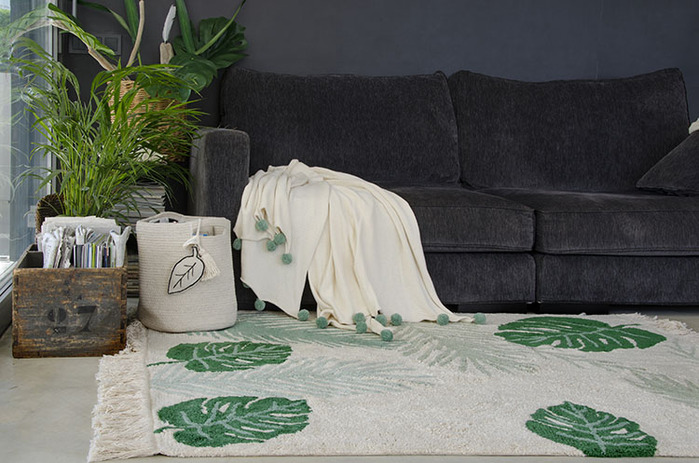 (複製)Lorena Canals|pompom毛球柔舒萬用被毯(薄荷綠)