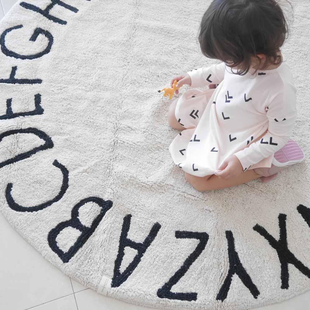 Lorena Canals 柔麗紡 馬卡龍ABC圓毯(蒙布朗)