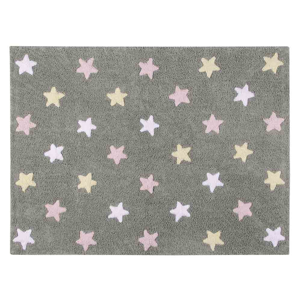 Lorena Canals 柔麗紡|小星星合奏曲地毯-銀河三色星(粉)