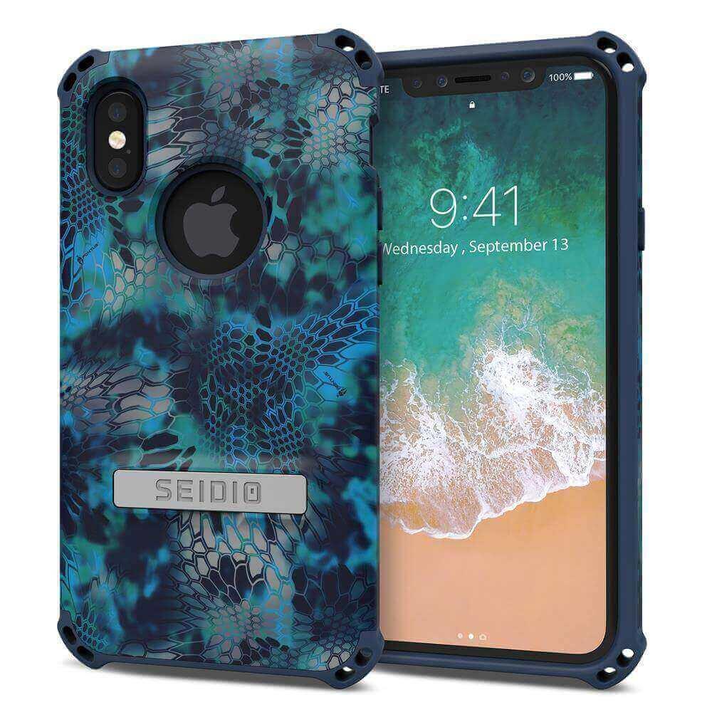 SEIDIO|軍規級四角防摔手機殼/保護殼 for Apple iPhone X-DILEXx KRYPTEK(巨浪海神)