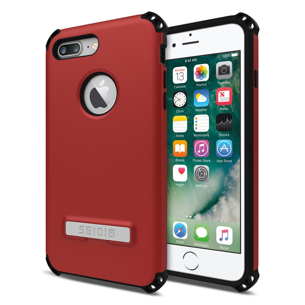SEIDIO 軍規級四角防摔手機殼/保護殼 for Apple iPhone 7 Plus / 8 Plus-DILEX(熱情紅)