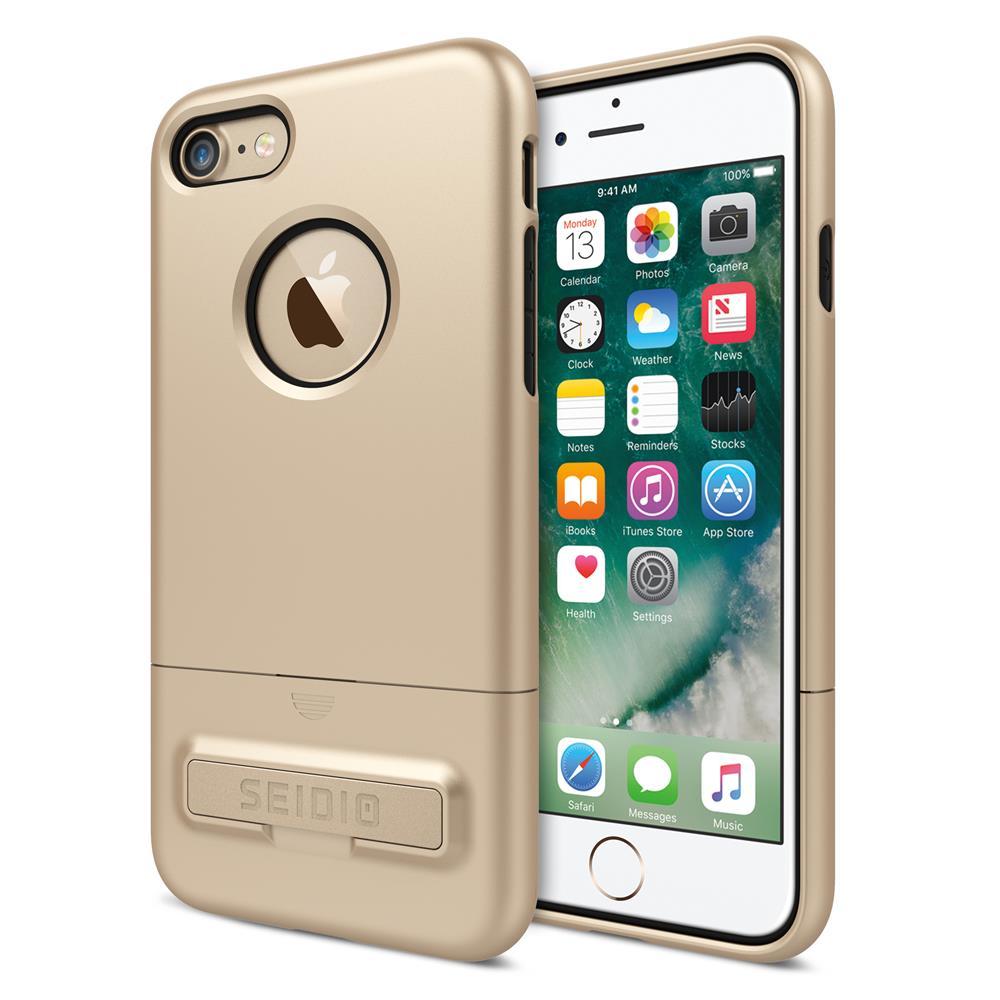 SEIDIO 都會時尚雙色手機殼/保護殼 for Apple iPhone 7-SURFACE(時尚金)