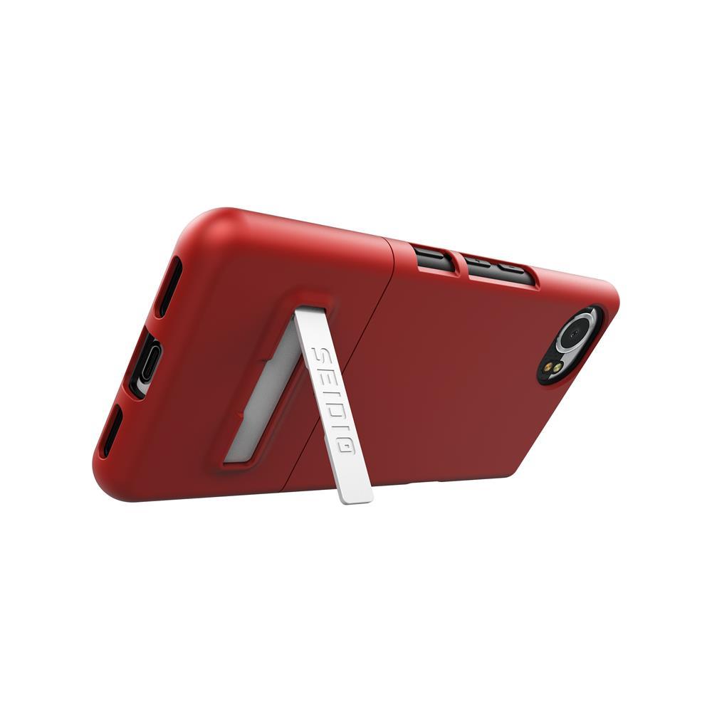 SEIDIO|都會時尚手機殼/保護殼 for BlackBerry KEYone-SURFACE(熱情紅)