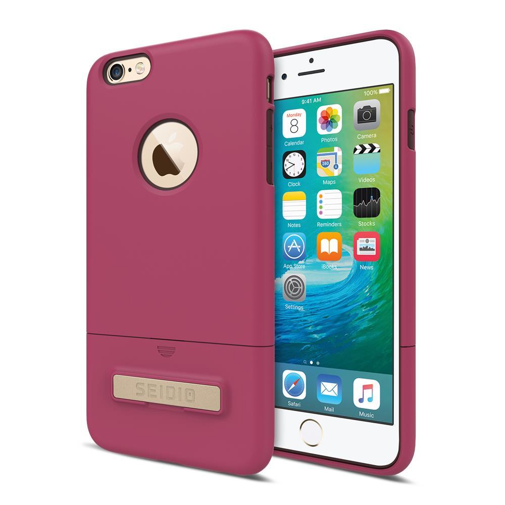 SEIDIO 都會時尚雙色手機殼/保護殼 for Apple iPhone 6/6s Plus-SURFACE(野豔桃棕)