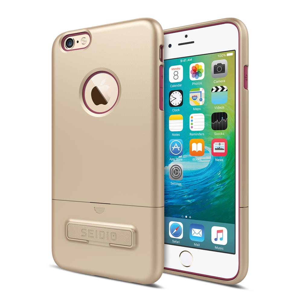 SEIDIO 都會時尚雙色手機殼/保護殼 for Apple iPhone 6/6s Plus-SURFACE(時尚金粉)
