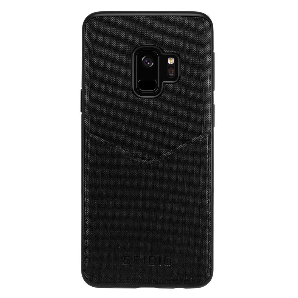 SEIDIO|極簡皮革手機殼/保護殼 for Samsung S9-EXECUTIVE(紳士黑)