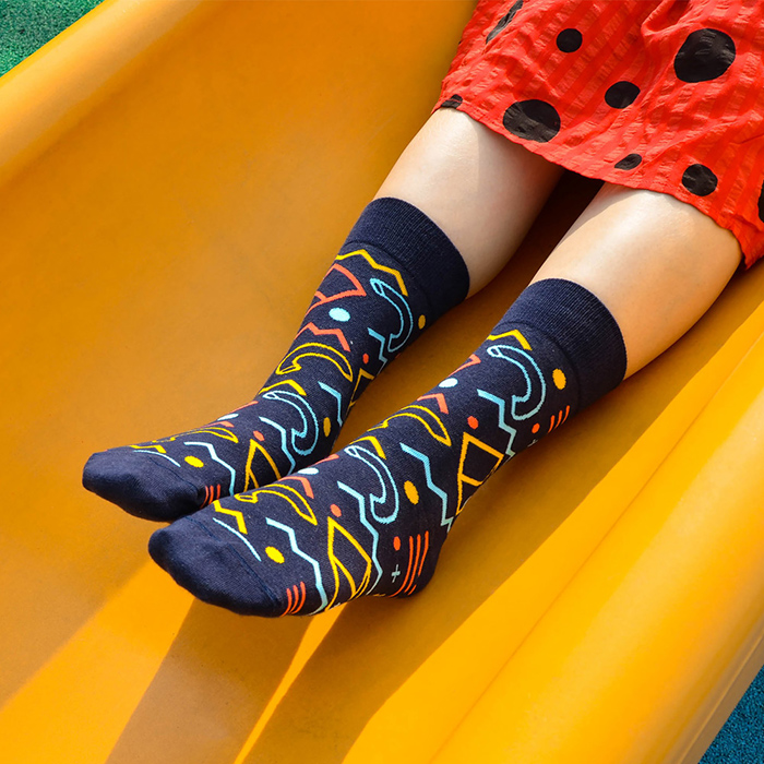 (複製)sokker®|藍雨霏霏4分之3襪