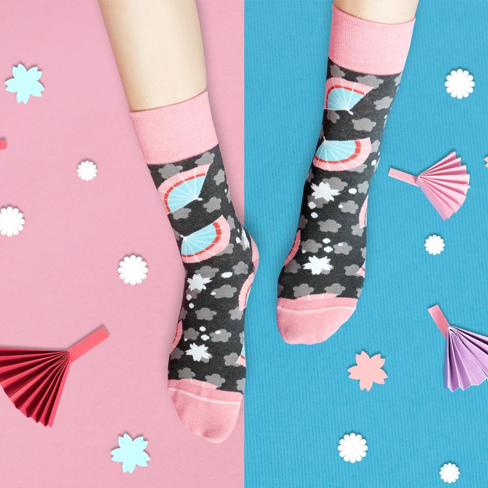 sokker®|紛櫻日扇4分之3襪