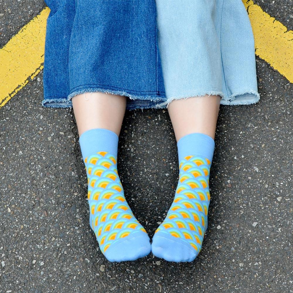 sokker® 金桂浪紋4分之3襪