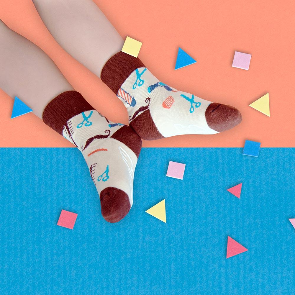 sokker®|迷你髮廊防滑4分之3童襪