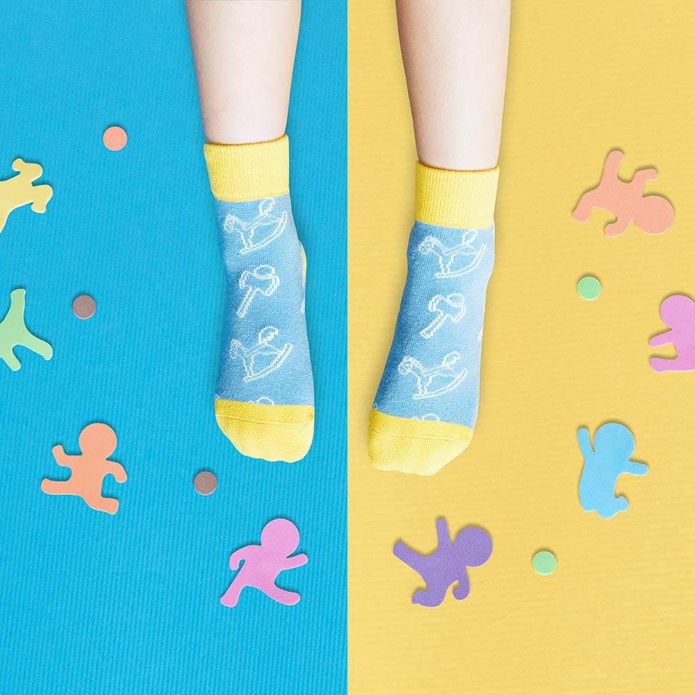 sokker®|兒時童玩防滑4分之3童襪