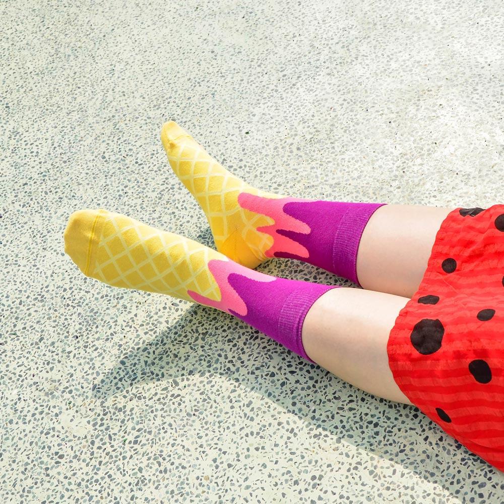 sokker®|紫戀甜筒4分之3襪