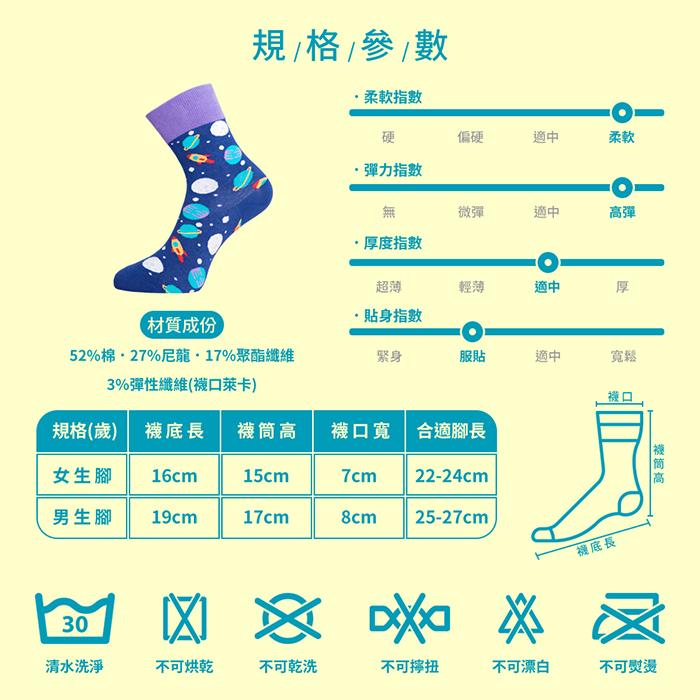 (複製)sokker® 浮繪巨浪4分之3襪