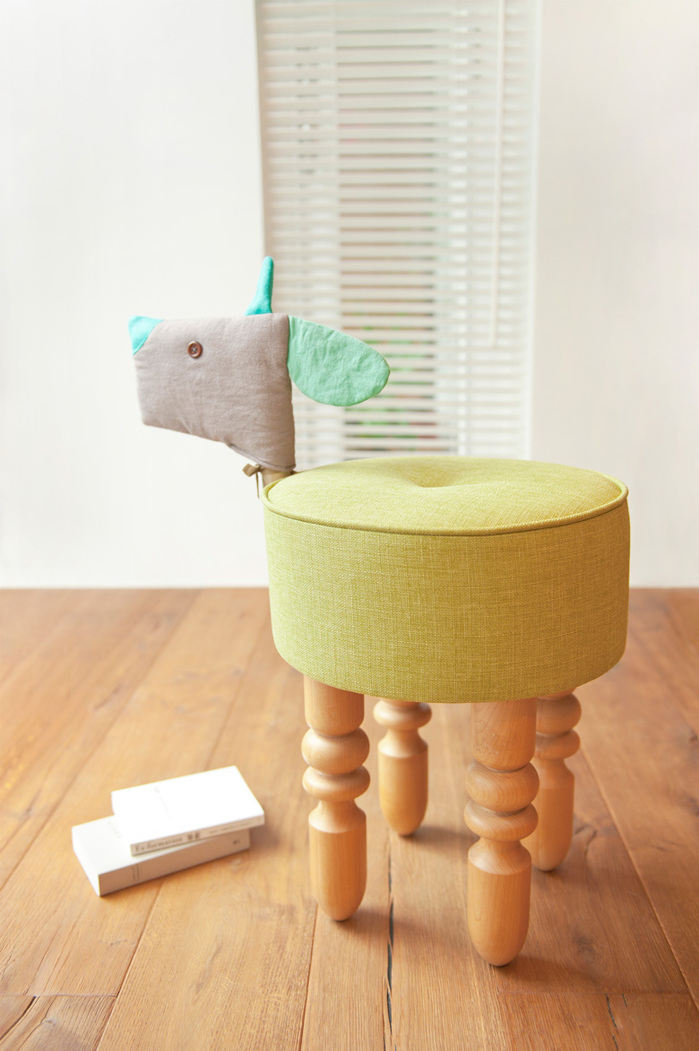 (複製)biaugust deco|動物家俱椅/黑色小羊椅