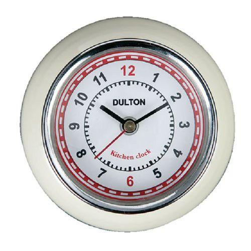 Dulton 復古磁鐵時鐘 米白色