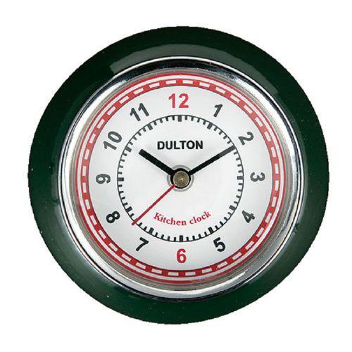 Dulton|復古磁鐵時鐘 深綠色