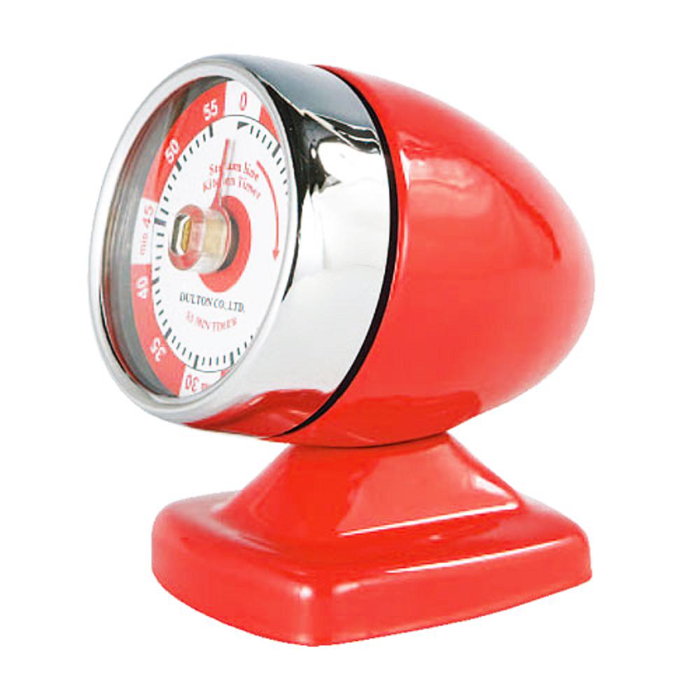 Dulton|復古工業風飛機引擎計時器 紅色