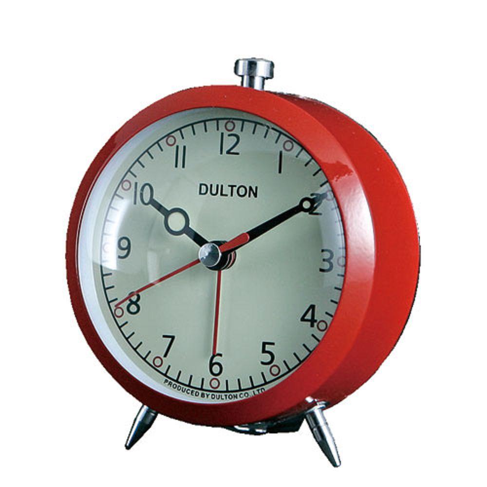 Dulton|復古靜音鬧鐘 紅色