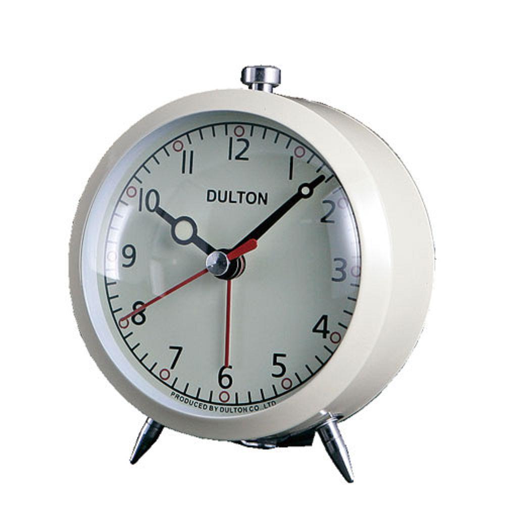 Dulton 復古靜音鬧鐘 米白色