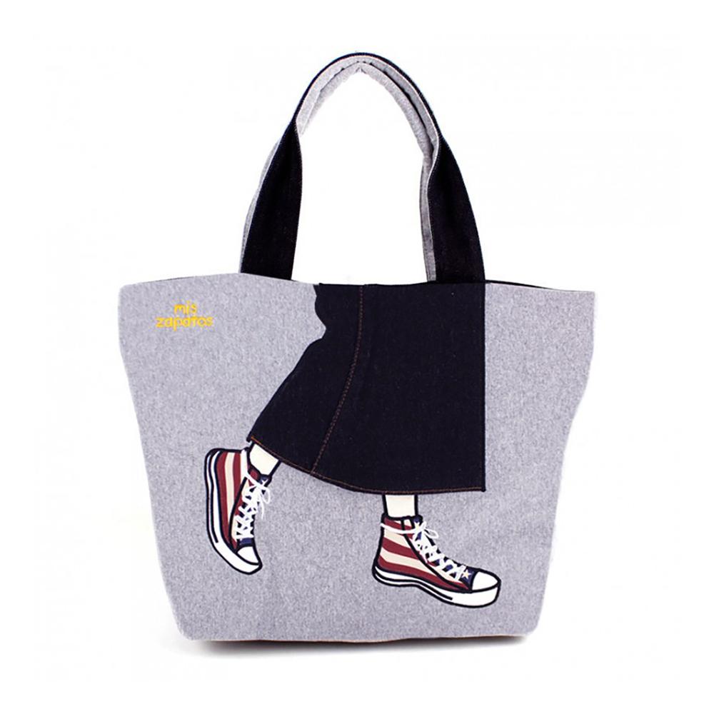 Mis Zapatos|青春少女帆布鞋包 灰色
