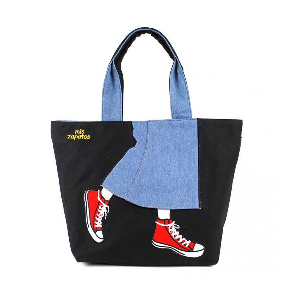 Mis Zapatos 青春少女帆布鞋包 黑色