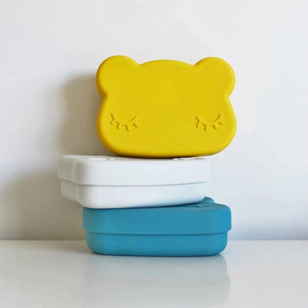 澳洲We Might Be Tiny|矽膠防滑便當盒熊寶寶-萊姆黃