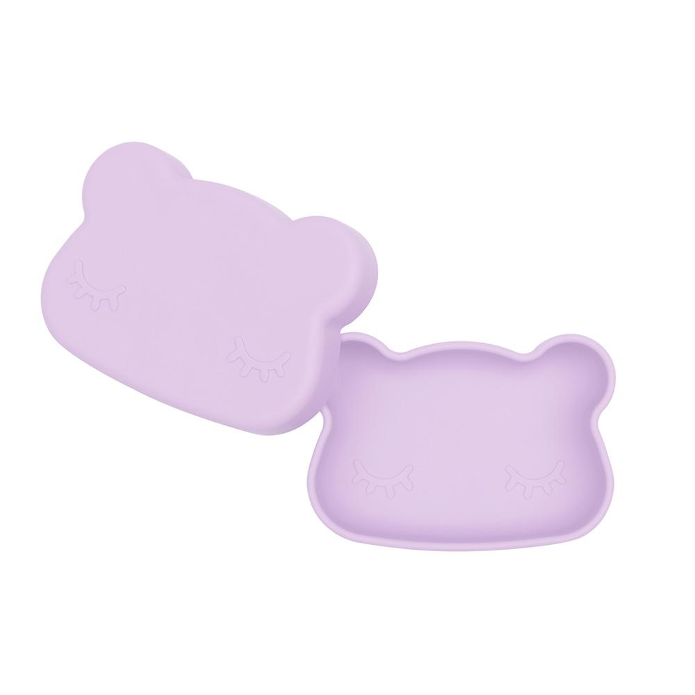 澳洲We Might Be Tiny|矽膠防滑便當盒熊寶寶-薰衣草紫