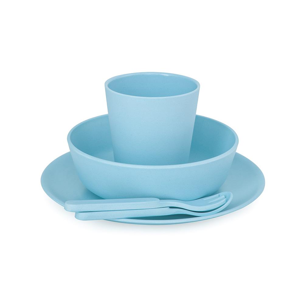 澳洲 bobo&boo | 竹纖維馬卡龍餐具組-天空藍