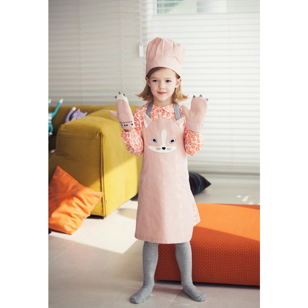韓國 KOOROOM | 兒童圍裙-花貓ShaSha