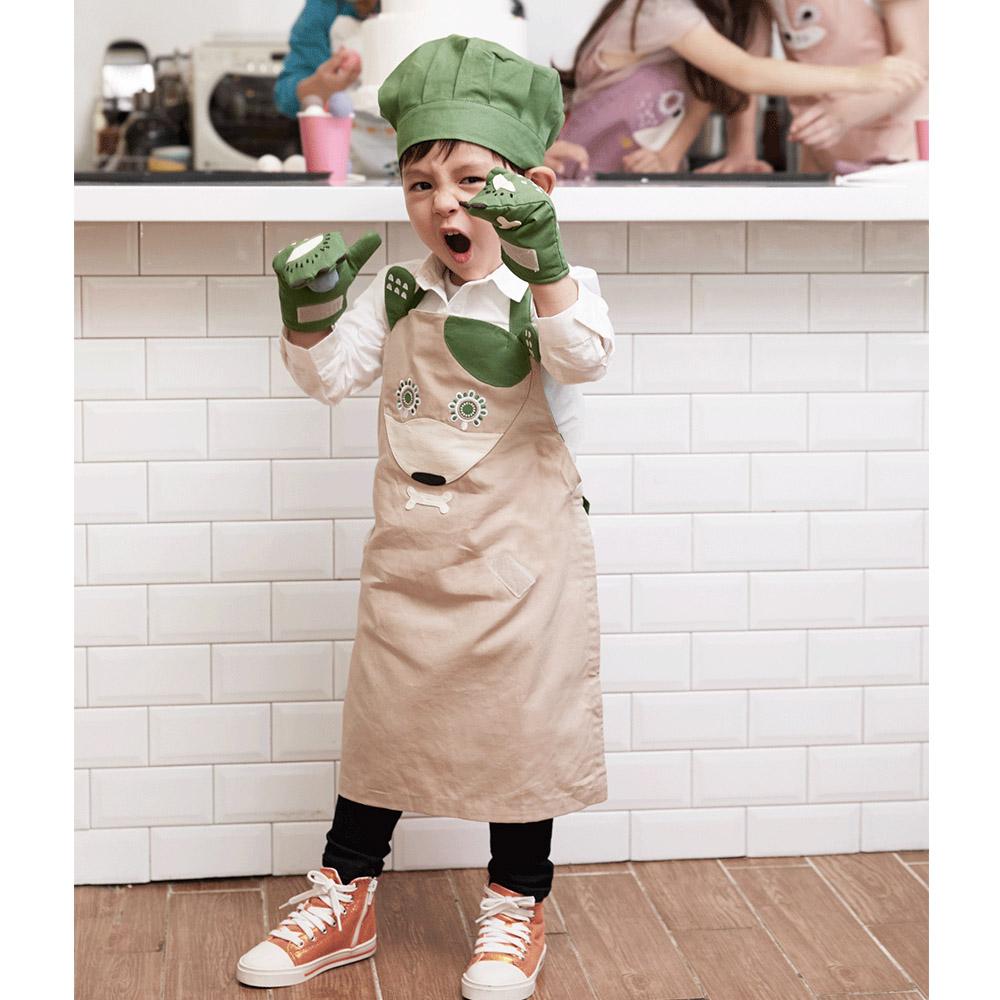 韓國 KOOROOM|兒童圍裙-狗兒DoDo