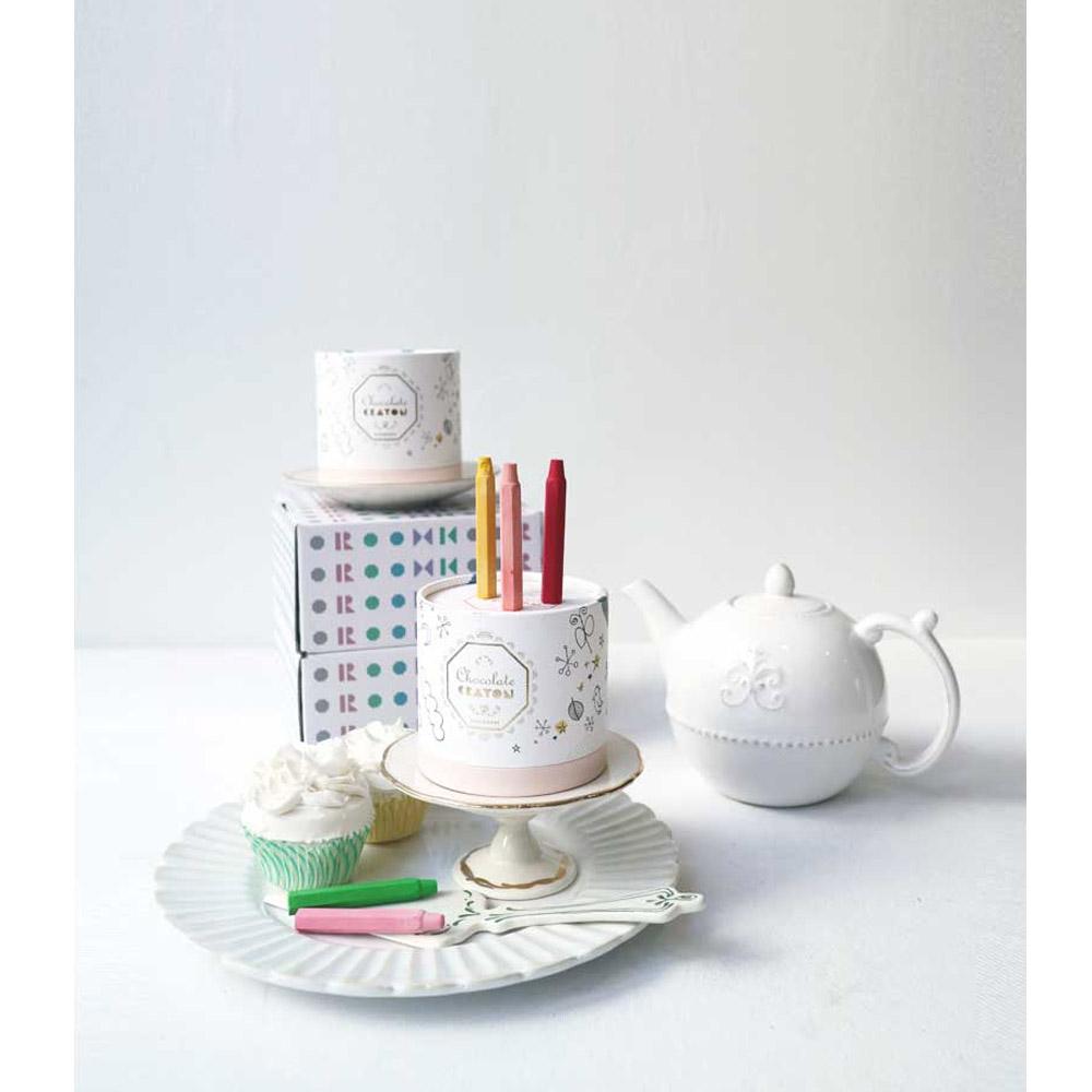 韓國 KOOROOM|生日蛋糕蠟筆(12色)