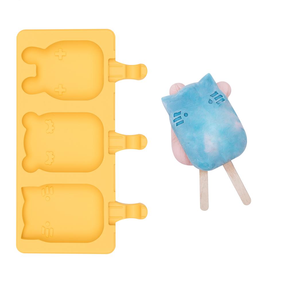澳洲We Might Be Tiny 矽膠動物冰棒盒-萊姆黃