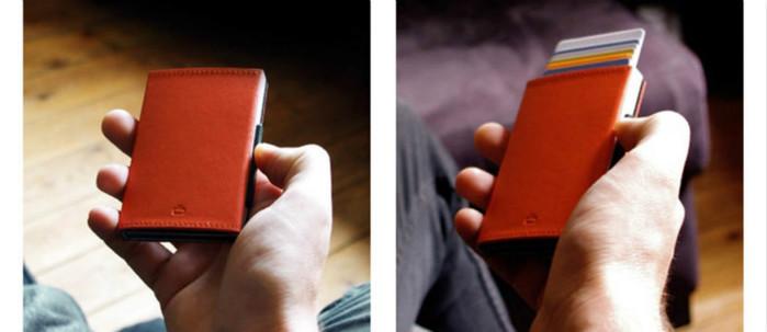ÖGON|Cascade Wallet RFID 安全防盜真皮三摺錢包(黑色真皮/太空銀/橘色真皮/深咖啡色)