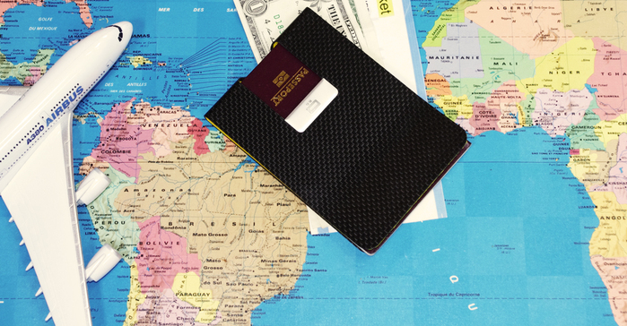 ÖGON Carbon Passport Clip RFID安全防盜碳纖維護照夾