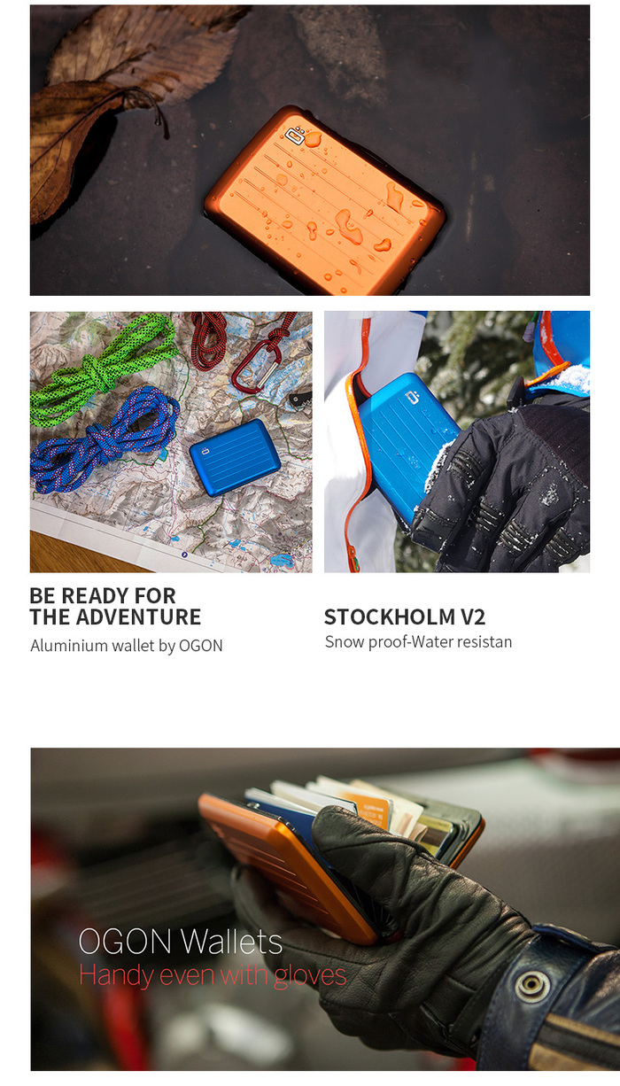 ÖGON|Stockholm V2 RFID安全防盜鋁製錢包(共5色)