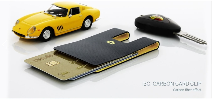 ÖGON|I3C Carbon RFID 安全防盜碳纖維紋卡夾