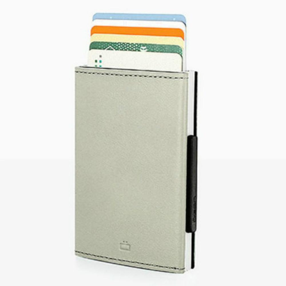 ÖGON Cascade Wallet RFID 安全防盜真皮三摺錢包(太空銀)