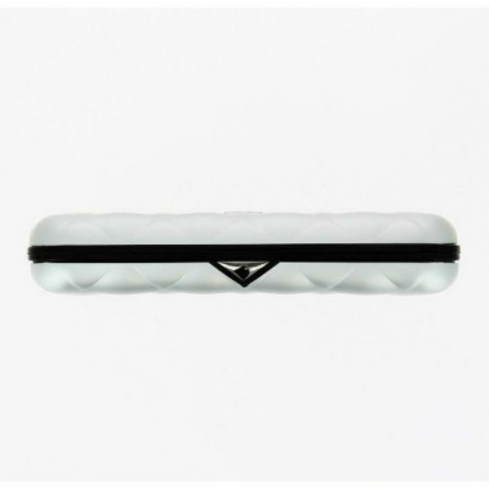 ÖGON|Quilted Button RFID安全防盜菱格紋卡匣(銀色)