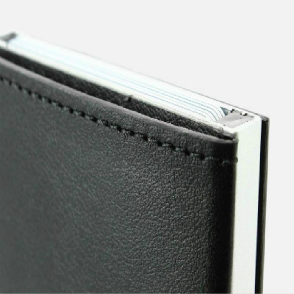 ÖGON|Cascade Wallet RFID 安全防盜真皮三摺錢包(黑色)