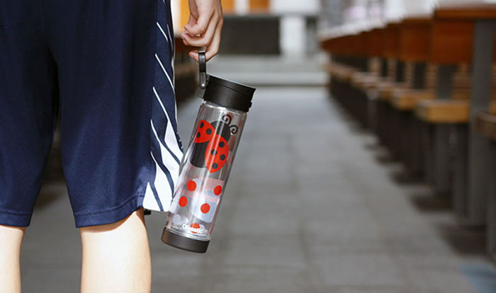 (複製)美國 Glasstic│安全防護玻璃水瓶470ml經典小lo款-掀蓋白(搭贈可愛瓢蟲圖卡)