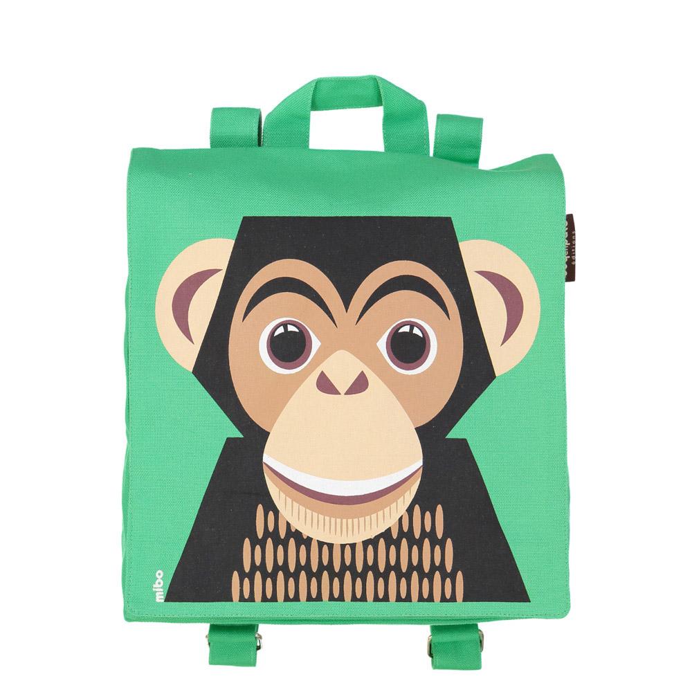 COQENPATE│法國有機棉無毒環保布包 / 小童寶包幫- 黑猩猩