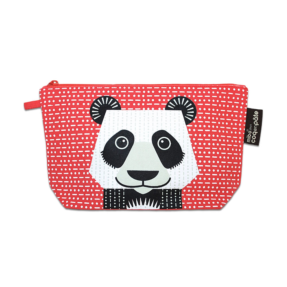COQENPATE│法國有機棉無毒環保化妝包 / 筆袋- 畫筆兒的家 - 貓熊
