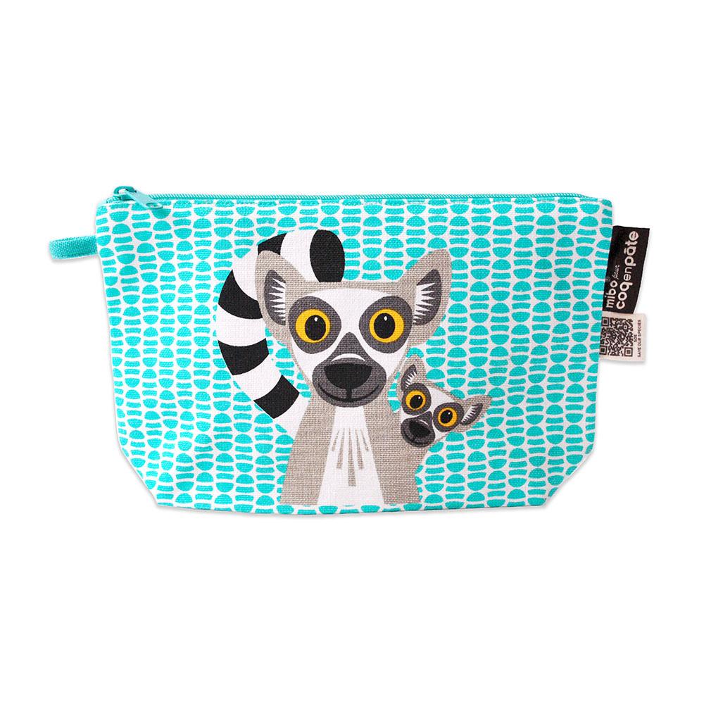 COQENPATE│法國有機棉無毒環保化妝包 / 筆袋- 畫筆兒的家 - 狐猴