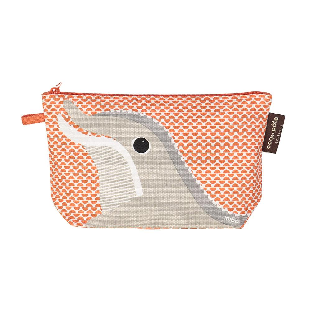 COQENPATE│法國有機棉無毒環保化妝包 / 筆袋- 畫筆兒的家 - 海豚