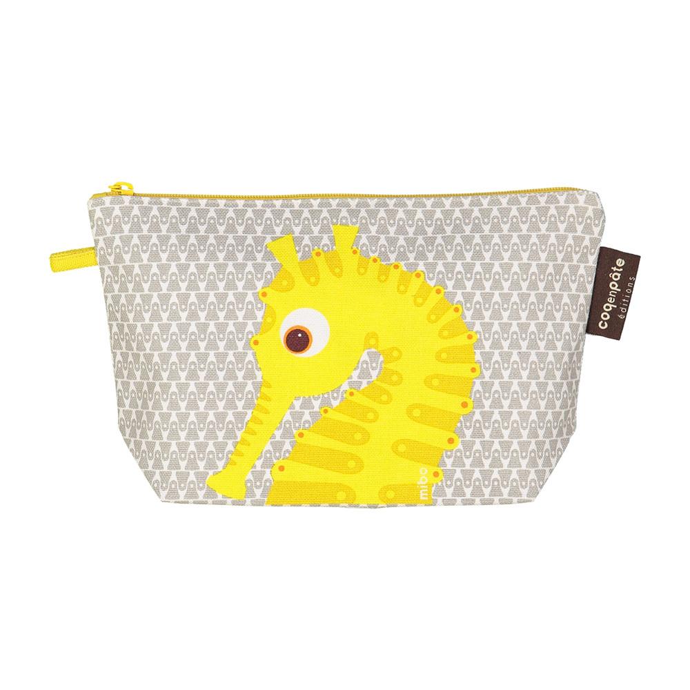 COQENPATE│法國有機棉無毒環保化妝包 / 筆袋- 畫筆兒的家 - 海馬
