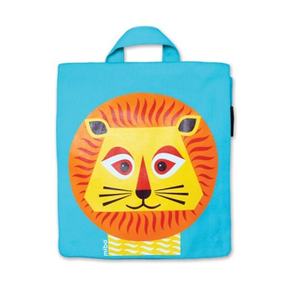 COQENPATE│法國有機棉無毒環保布包 / 小童寶包幫- 獅子