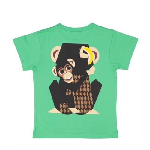 COQENPATE│法國有機棉童趣 短袖 T-SHIRT - 黑猩猩