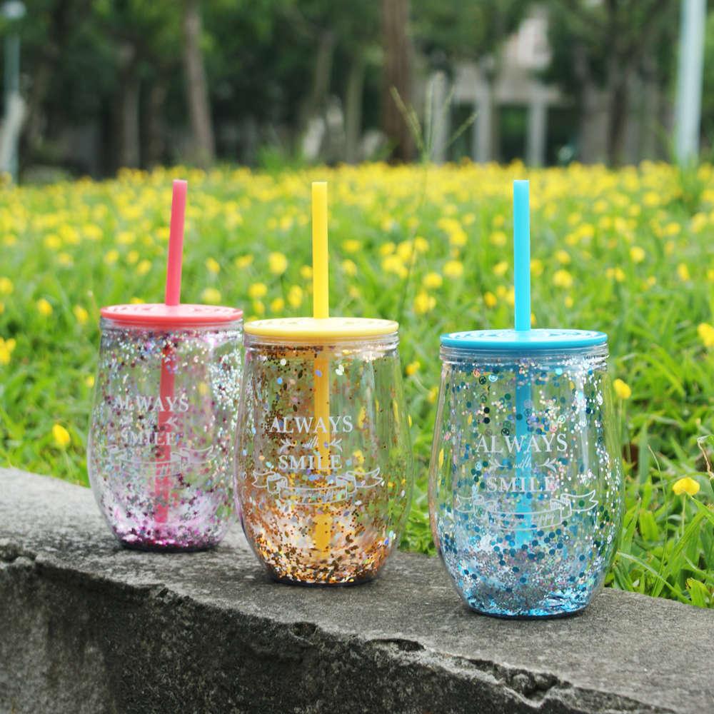 DESTINO STYLE|日本雙層曲線吸管杯